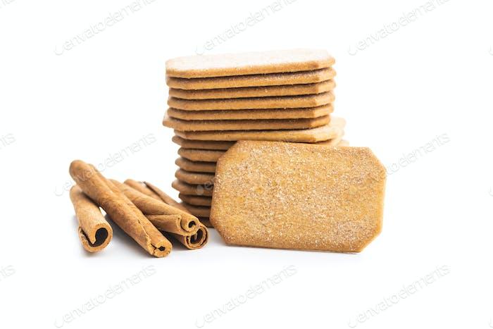 Sweet cinnamon biscuits.