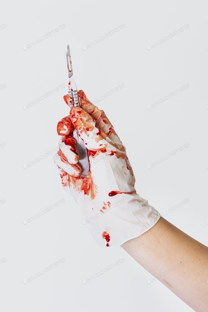 Bloody scalpel