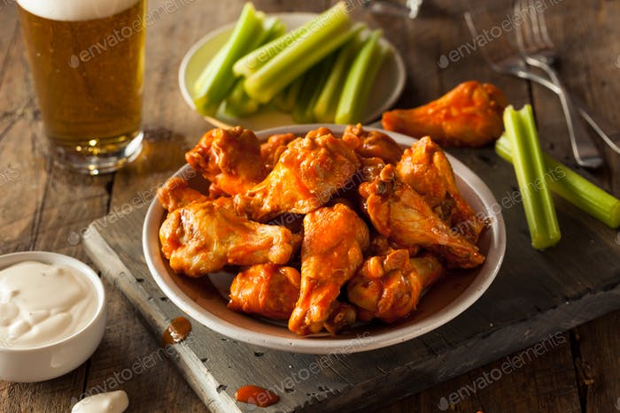 Spicy Homemade Buffalo Wings