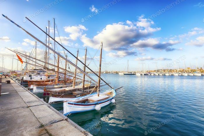 Fishing boats at Alghero port