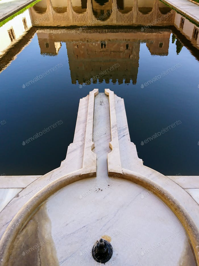 Reflection of the Comares Palace
