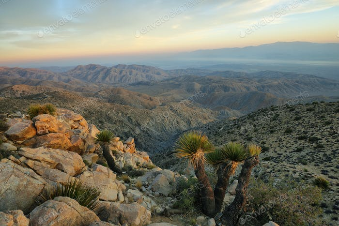 Mojave desert from Inspiration point