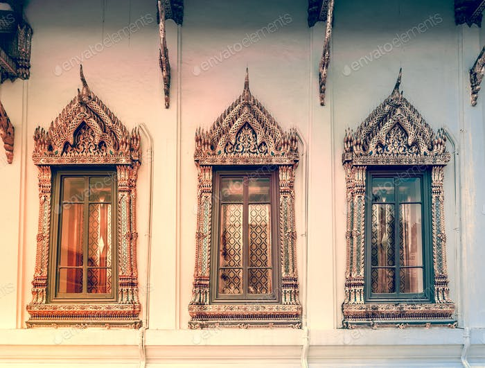 Window background in Royal King Palace, Bangkok