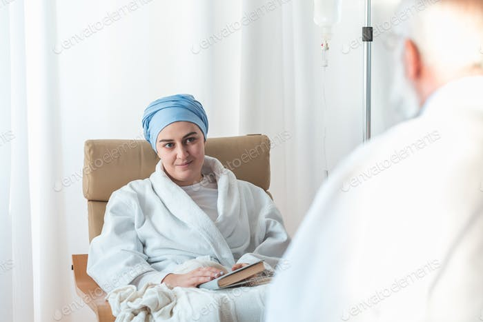 Woman during chemotherapy