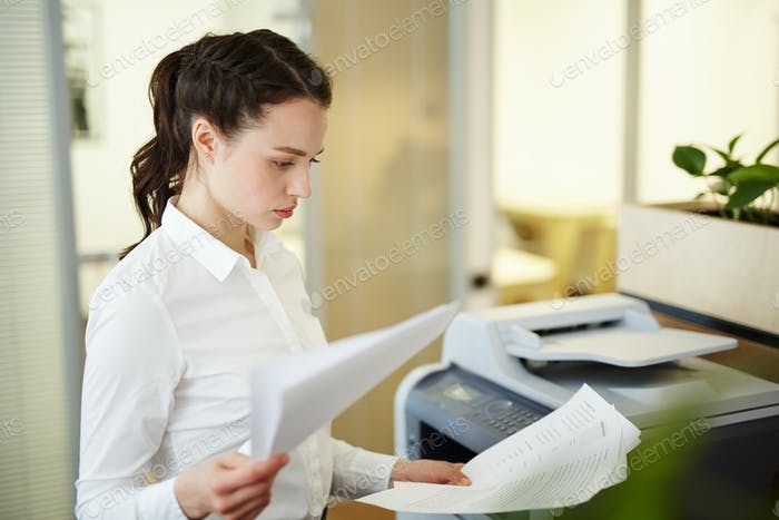 Secretary at work