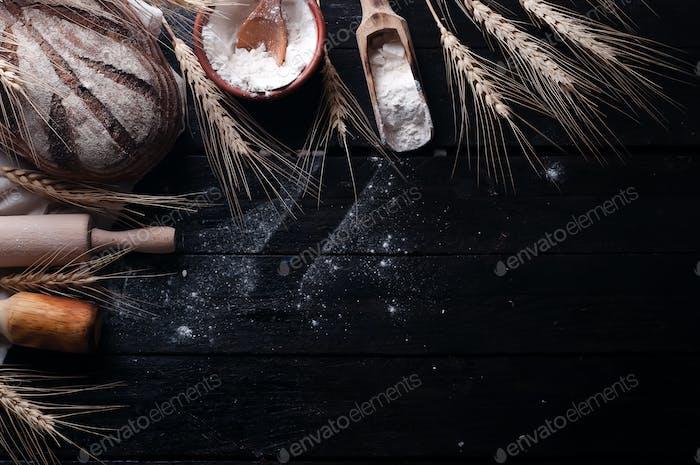 Backzutaten Food-Hintergrund
