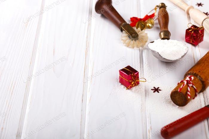 Zutaten zum Kochen Weihnachten Backen
