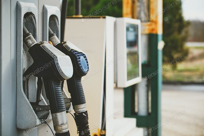Petrol pump in petrol station