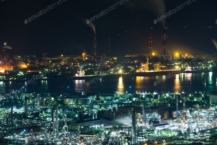 Industrial area in Japan