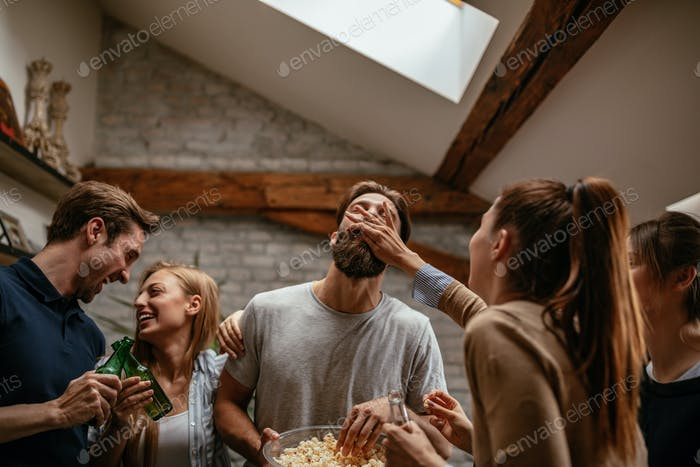 He loves popcorn
