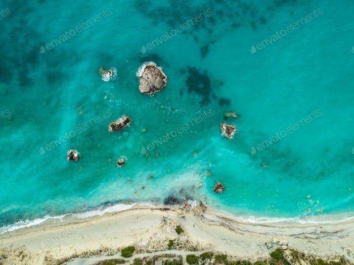 Aerial View Of Sea Cliffs