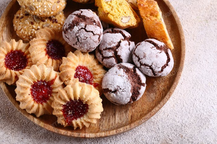 Various Sweet Pastries Cookies