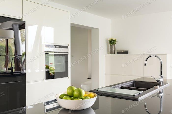 Futuristic high gloss kitchen