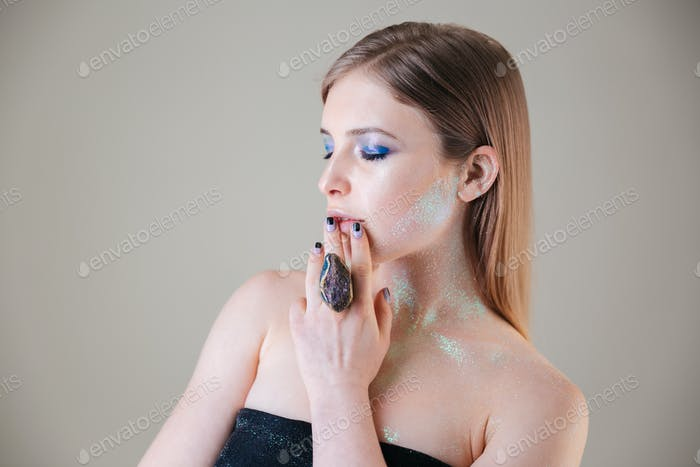 Beauty portrait of attractive woman