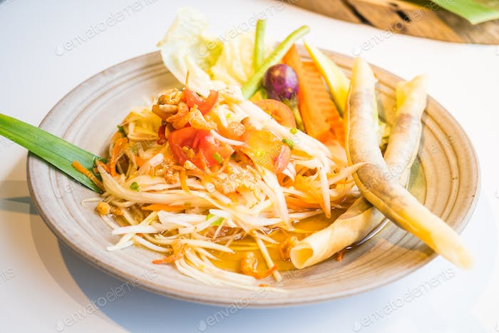 "Spicy papaya salad "" Som tum """
