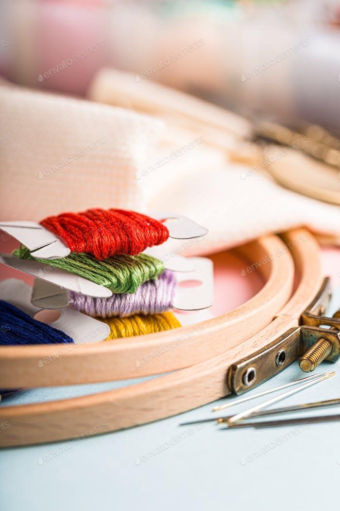 Embroidery set fot cross stitching