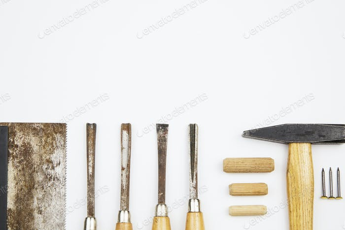 set of carpenter's tools