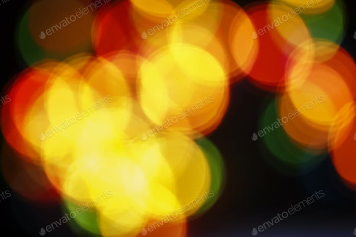Festive abstract background, multi-colored Christmas garland
