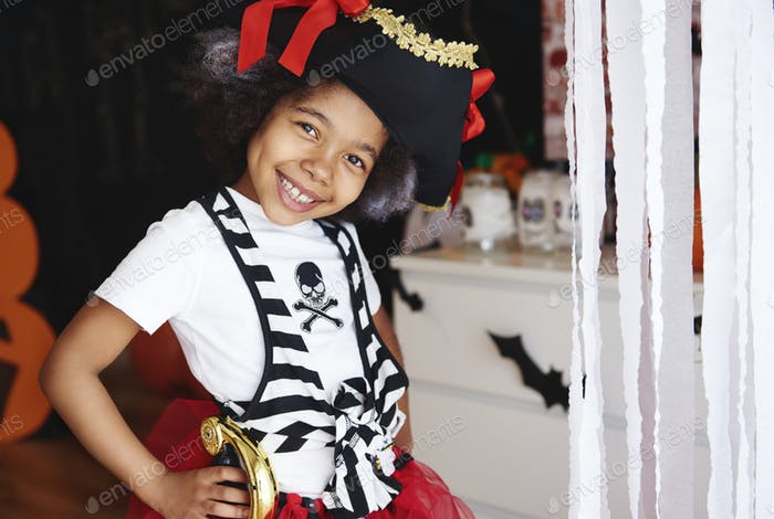 She dressed up as a pirate