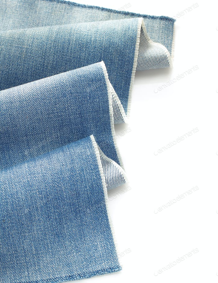 blue jeans denim isolated on white