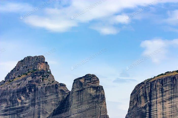 Beautiful mountains of Meteora in Greece