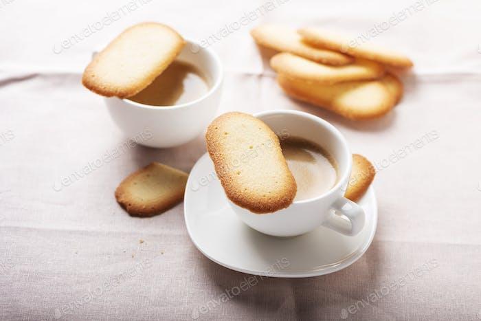 Italian traditional cookies Cat tongues