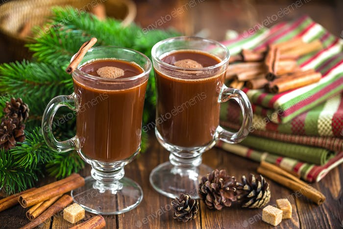Christmas cocoa drink