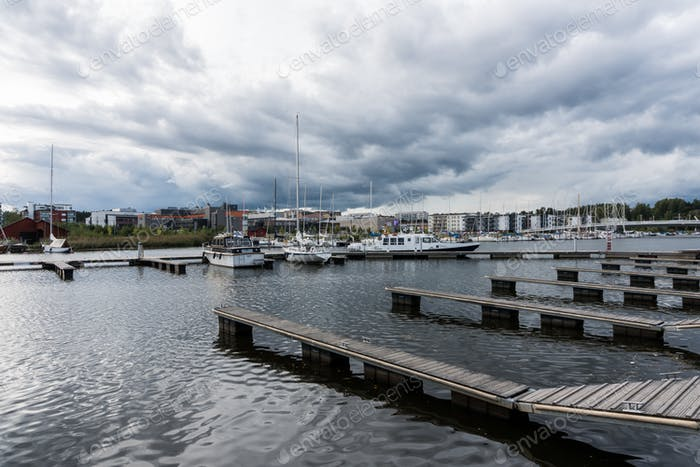 Ships in Harbour in Porvoo
