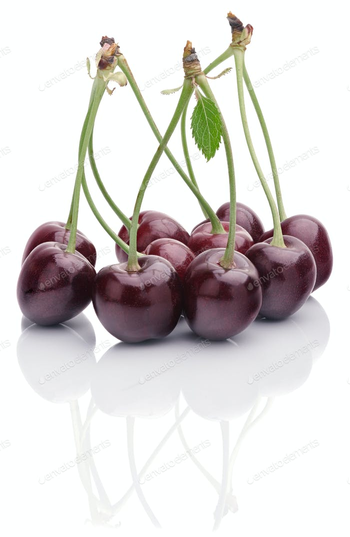 bunch of ripe cherries