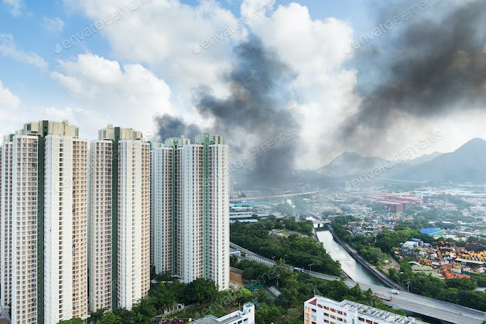 Fire accident in apartment building