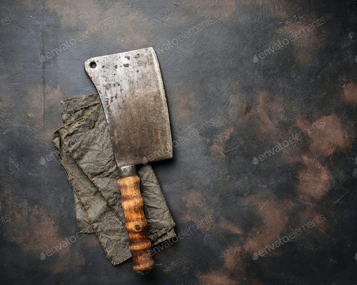 Metzger Vintage Hackmesser für Fleisch