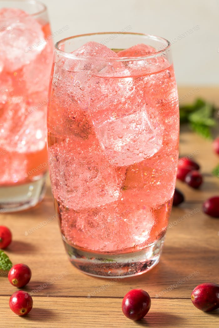 Refreshing Cranberry Lemon Lime Soda
