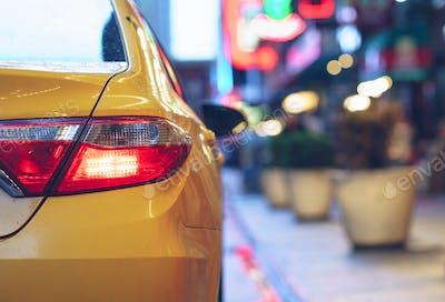 Yellow car outdoors