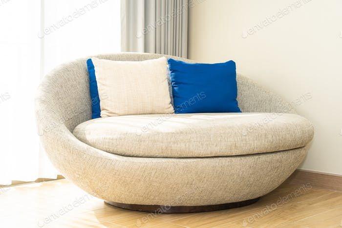 Comfortable pillow on sofa chair
