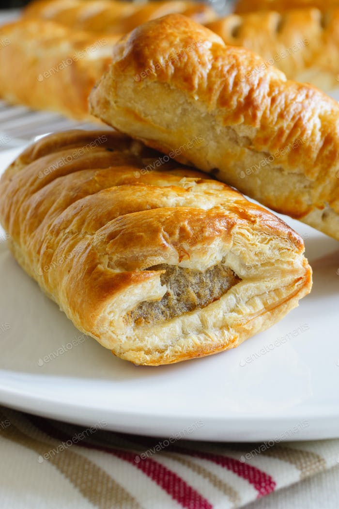 Pork Sausage Rolls in Puff Pastry