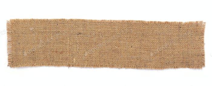 burlap hessian sacking texture  at white background