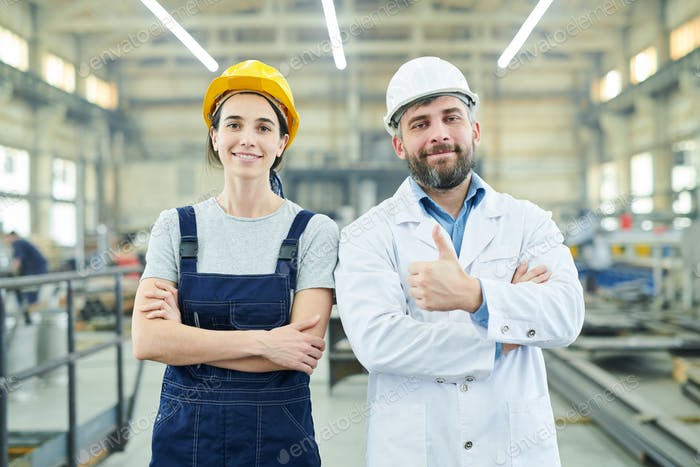 Happy Factory Employees