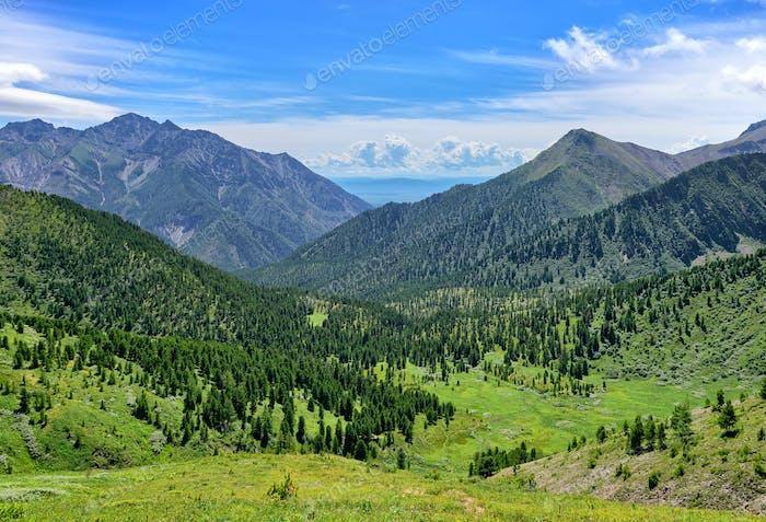 Mountain landscape in Siberia