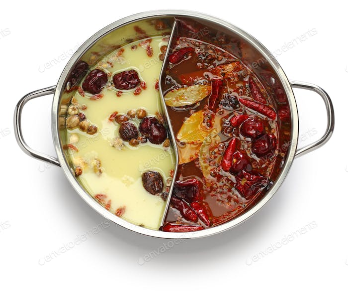chongqing yin yang hot pot, chinese cuisine