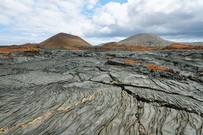 Vulkanlandschaft der Insel Santiago