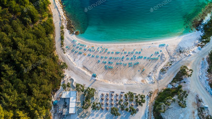 Porto Vathy Marble Beach in Thassos Griechenland