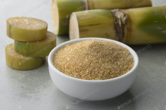 Bowl with cane sugar
