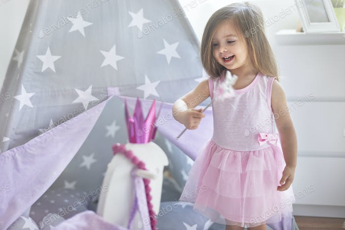 Magic moments of little fairy