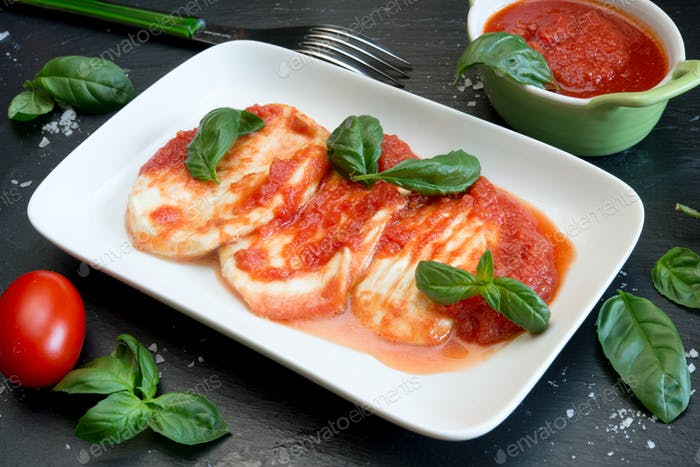 provola cheese and tomatos