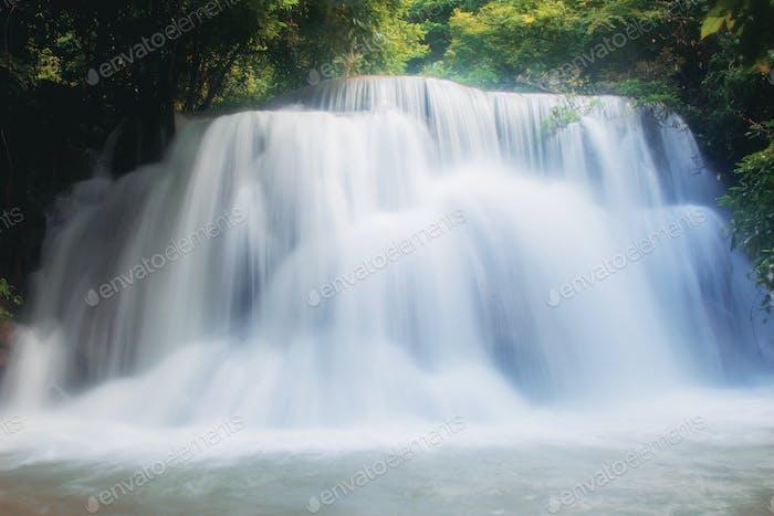 Huay mae kamin waterfall with beautiful