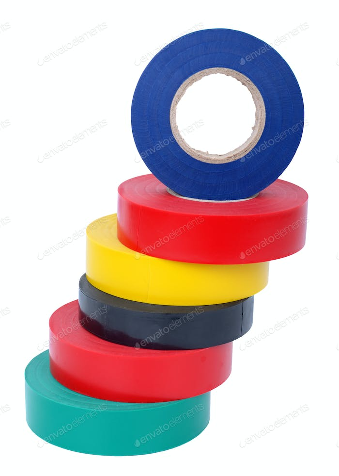 Multicolored insulating tapes