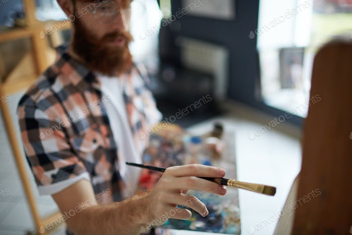 Painting with brush