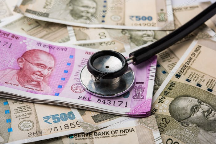 Indian Healthcare for Financial Health Concept