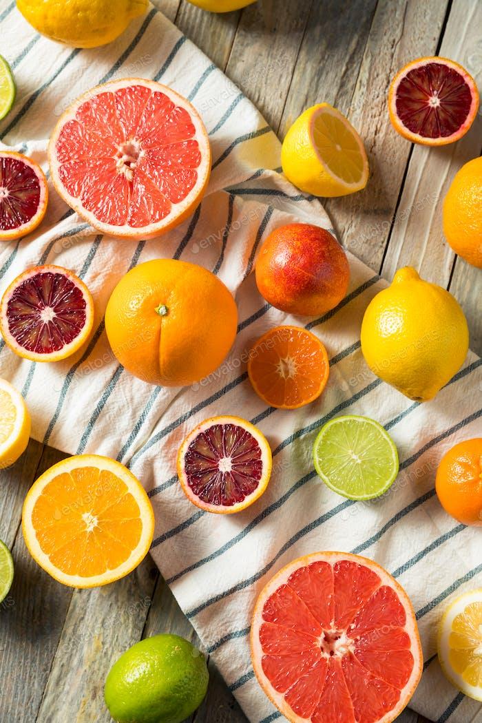 Assorted Raw Organic Citrus Fruit