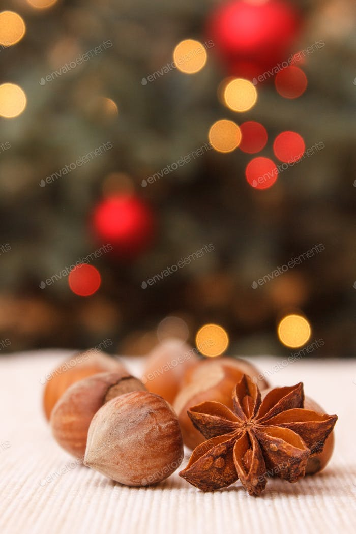Hazelnut, anise and christmas tree